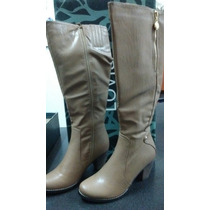 Botas Largas Color Beige