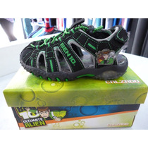 Zapatillas Sandalias Ben 10 Con Luces. Originales