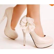 Zapatos De Novia Importados. Nuevos Sin Uso
