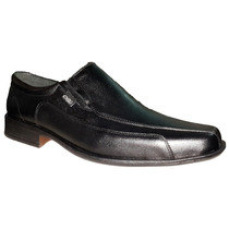 Zapato Punta Fina Elastico Cuero (3001)
