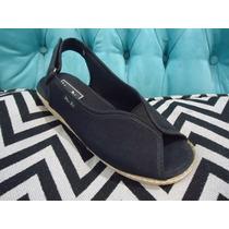 Sandalia Taco Chino Bajo Yute Zapato De Mujer