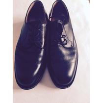 Zapatos Lopez Taibo Cuero Negro Acordonados Y Suela Febo!!