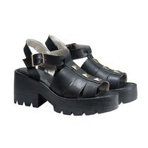 Zuecos Sandalias Plataforma Mujer Zapatos Almacen De Cueros