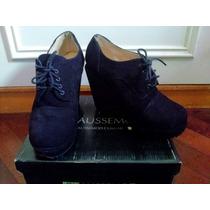 Zapatos Plataforma Gamuza Negros