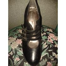 Zapatos De Taco Alto 14cm De Cuero