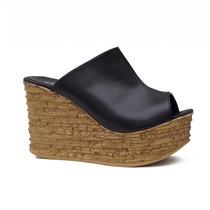 Sueco Taco Chino - Corcho - Art: 4282 - Omg Shoes