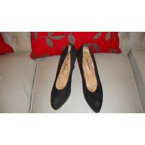 Zapatos De Gamuza Con Plataforma Estela Cardaci 38 (a2)