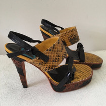 Claude Benard Zapatos Sandalias Fiesta Stiletto Nuevos 36