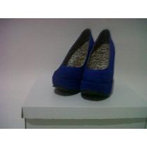 Zapatos Plataforma Gamuzados
