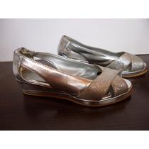 Zapatos De Fiesta Plateados Para Nena No. 23