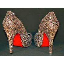 Zapatos Con Glitter - Talle 37-38
