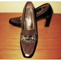 Zapato Mocasin Cuero Charol Nº37 Batistella
