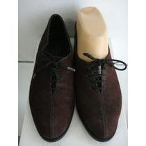 Zapatos Retro Acordonados Nro 36 Legitima Gamuza Color Uva