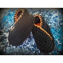 Pantuflas Para Niños Tejidas A Mano En Crochet
