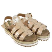 Clippate Sandalias Zapatos Mujer En Cuero Charol Verano