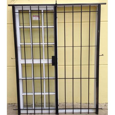 Puerta ventana balcon vidrio repartido reja abrir 180x200 for Ventana balcon medidas