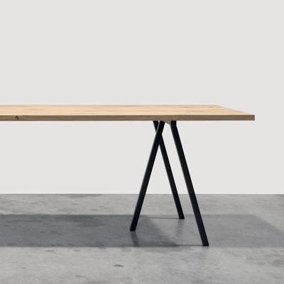 Caballete de hierro escritorio mesa industrial nordico - Caballetes de hierro ...