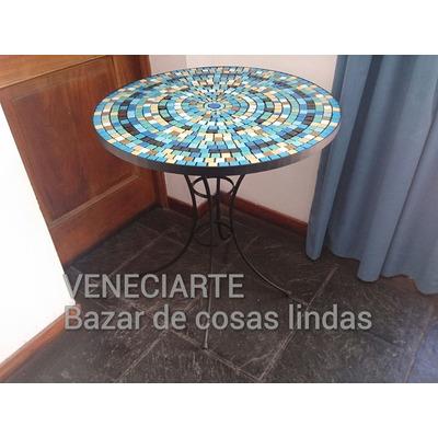 Mesa de hierro 60 cm exterior venecitas dise o simple for Mesa exterior diseno