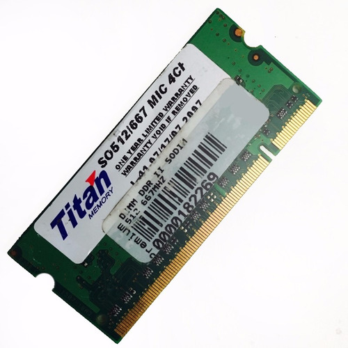 Memoria Ram Titan Notebook Ddr2 512mb 667mhz