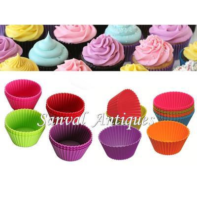 6 moldes p cupcakes muffins pirotines de silicona flexible en venta en villa crespo capital - Moldes cupcakes silicona ...