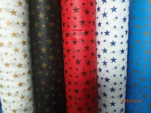 4b58e206d Rollo De Tela Friselina 60grs Estrellas De 1.50 X 50mts en venta en ...