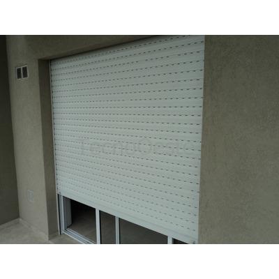 Puerta ventana aluminio blanco repartido 120x200 c cortina for Puerta balcon aluminio
