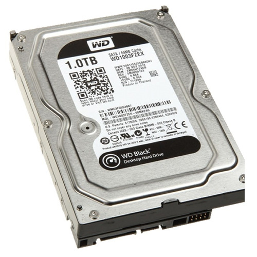 Disco Rigido Wd 1tb Black Western Digital Sata 3 Gamer 7200