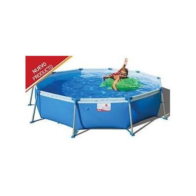 Pileta piscina de lona redonda tiburoncito n 8 x 0 for Lona piscina redonda