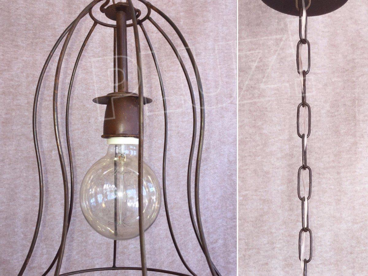 Lámpara Colgante Sombrero Alto - Jaula Hierro &Oac...