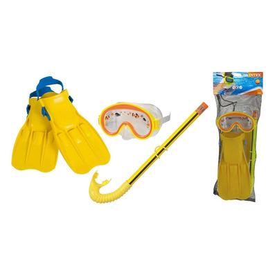 b1eace113 Factura A o B Marca: Intex Modelo: 55951. Incluye: Patas de rana, snorkel,  antiparras. Color: Amarillo