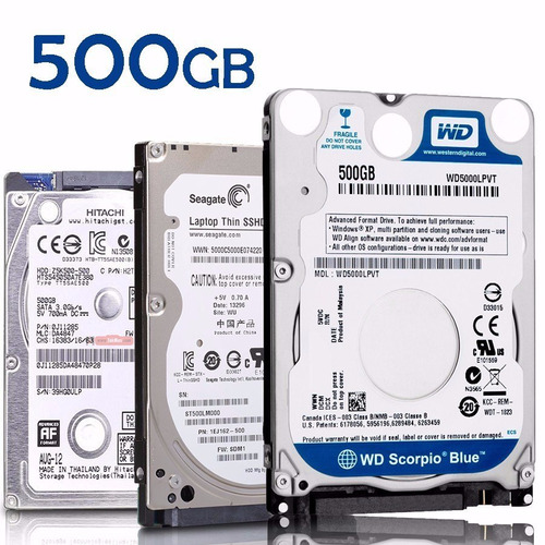 Disco Rigido Notebook 500gb Blue Wd Western Digital 2.5