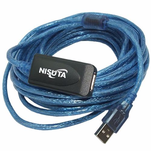 Cable Usb Alargue 10 Metros Amplificado Nisuta Ns-caexus10