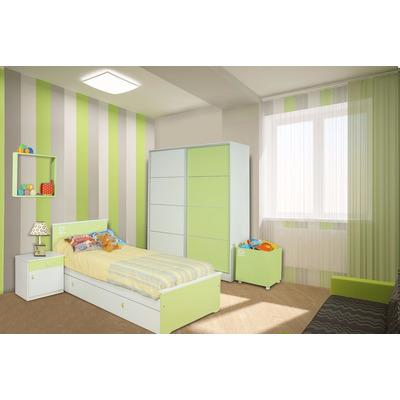 Juego dormitorio infantil cama carro mesa de luz for Juego de dormitorio infantil