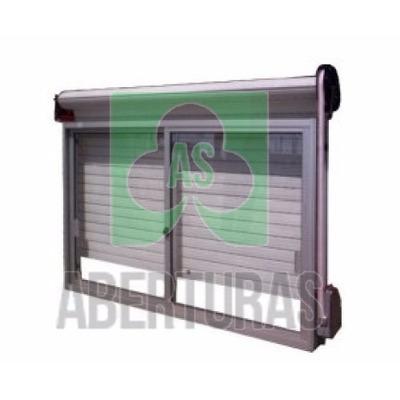 Aberturas ventana aluminio blanco 100x90 c guia y cortina for Ventanas de aluminio con cortina