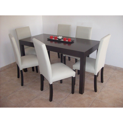 Mesa asia laqueada comedor moderna madera 160 x 80 cm for Mesa comedor 3 metros