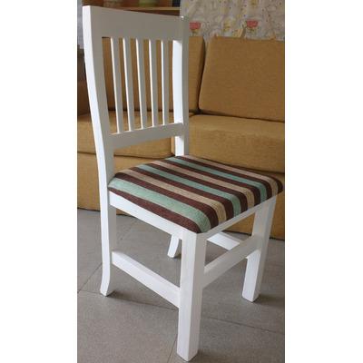 Silla blanca tapizada chenille modelo hindu muebles de for Sillas para quincho