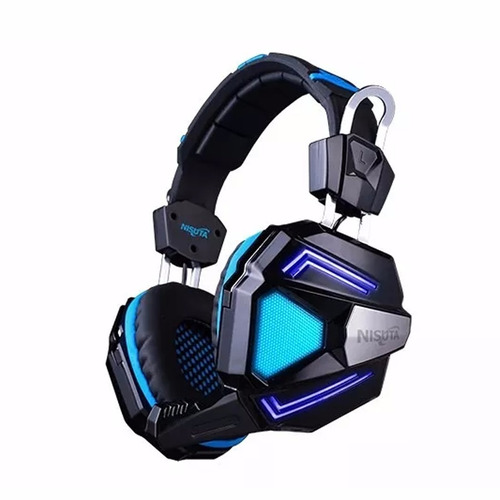 Auricular Gaming 7.1 Vincha Mic Led Soft Nisuta Ns-augz500