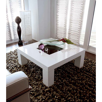 Mesa ratona asia laqueada vidrio moderna madera for Mesas de madera modernas