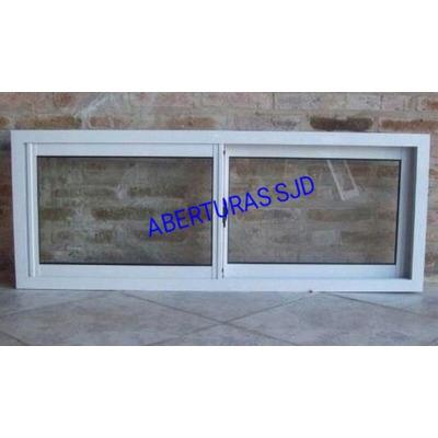 Ventana corrediza 100x40 vidrio entero 4mm aluminio 02 for Cotizacion aluminio argentina