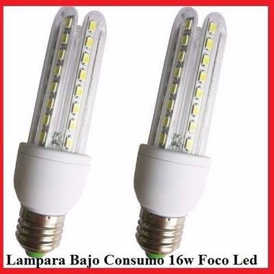 Lampara bajo consumo 16w foco led 80 porciento de ahorro 16w lour tec - Halogenos led bajo consumo ...