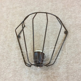 Aplique Pared Medio Diamante Mini- Jaula Hierro Óxido