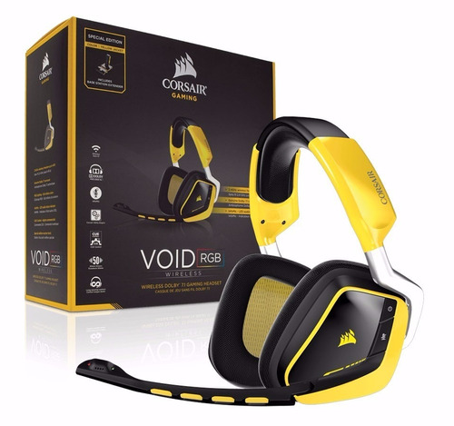 Auricular Corsair Void Rgb Wireless Headset Dolby 7.1