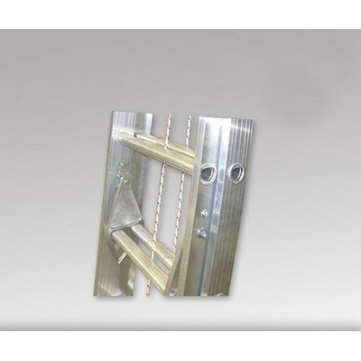 Escalera extensible de aluminio 8 8 escalones 4 mt for Precio de escalera extensible de aluminio