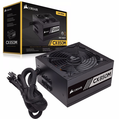 Fuente Pc Gamer Corsair Modular 850w Reales 80 Plus Bronze