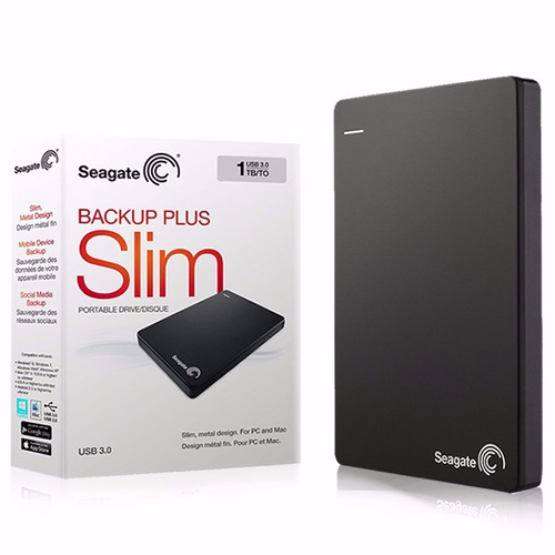 Seagate Disco Externo  Backup Slim 1tb Usb 3.0 Xbox Ps4