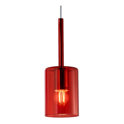 Colgante 1 Luz Bios Fat Rojo Apto Led Vidrio Deco Moderno Lk