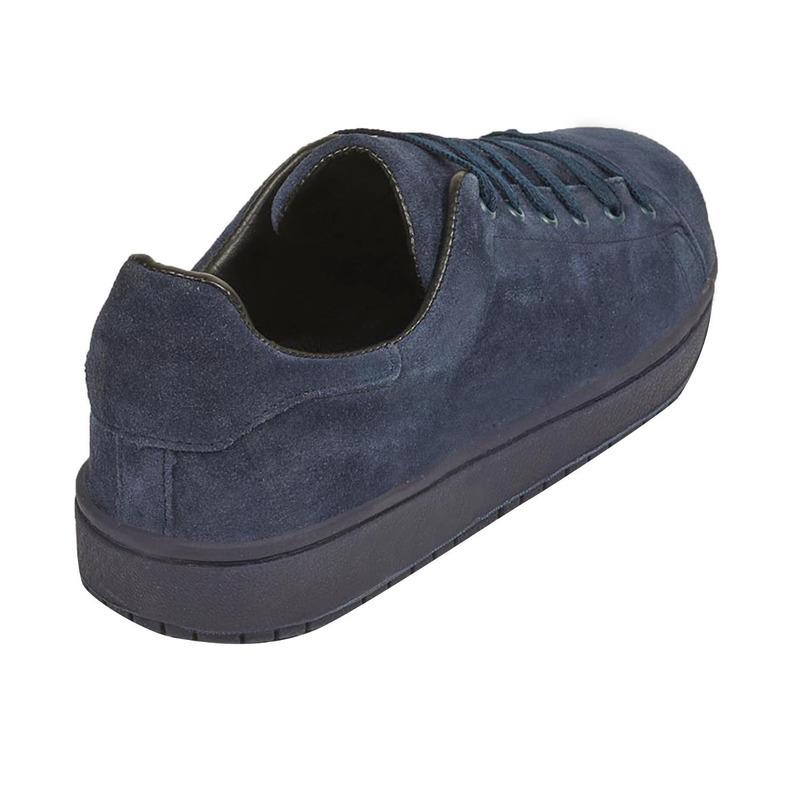 Sneakers marino de gamuza 018713
