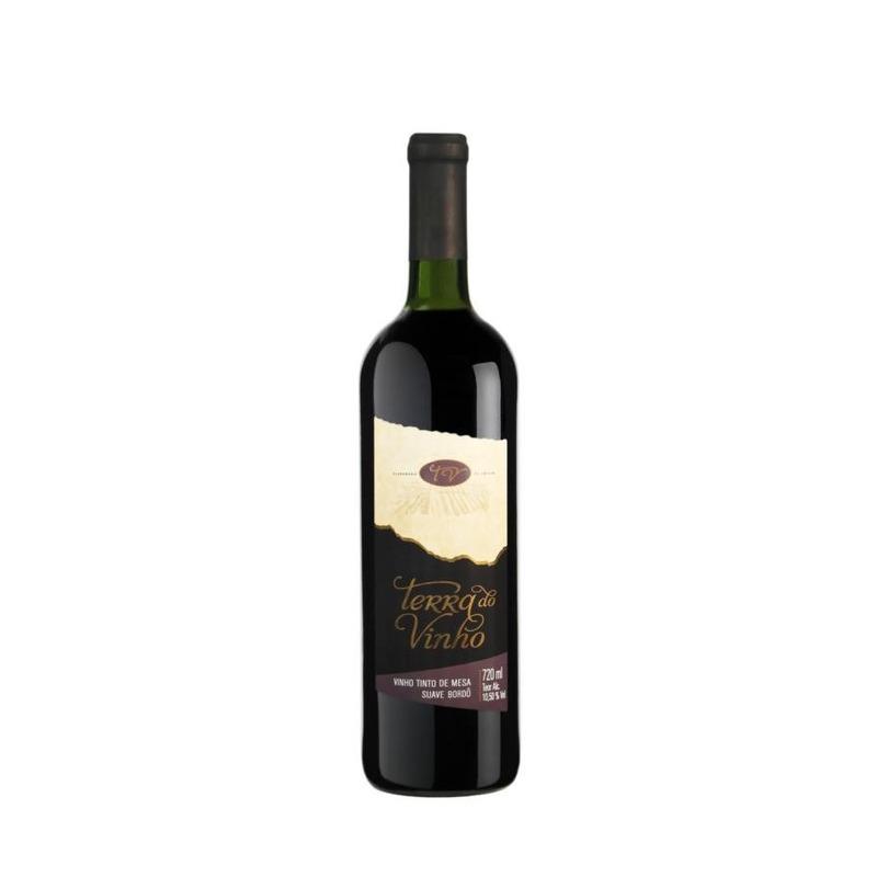 Vinho Tinto Suave Bordô 720ml - Adega Terra do Vinho