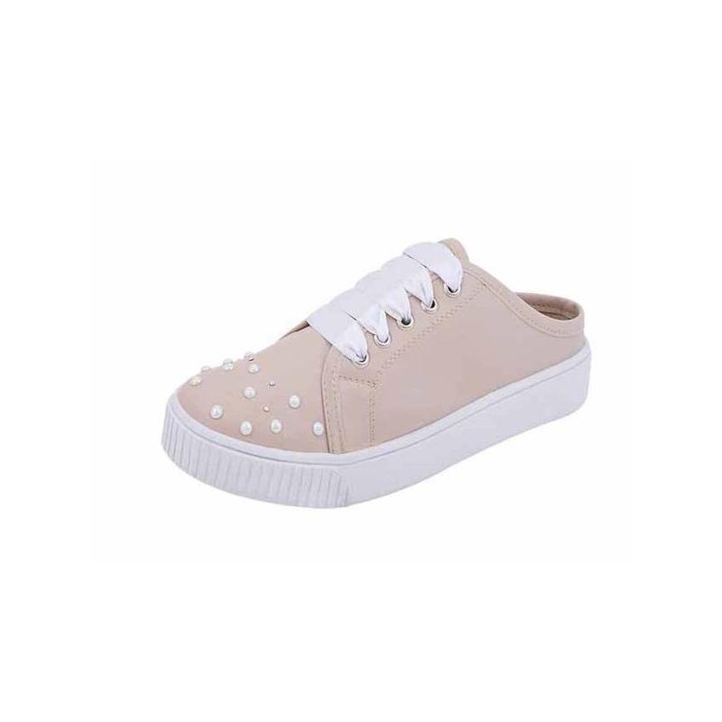 Sneakers rosas con perlas 017350