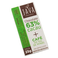 Chocolate 63% Cacau com Cafe Torrado - 25g - Java